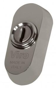 La rosetta universale Viro può essere montata praticamente su tutte le serrature con cilindro europeo, anche prive di fori DIN.