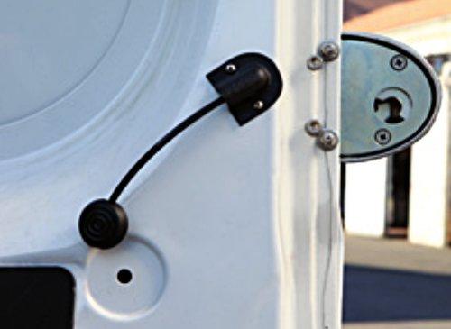 """Lo sblocco interno di sicurezza di """"Viro Van Lock"""" non è afferrabile dall'esterno."""