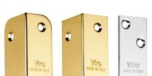 Gli incontri elettrici Viro sono disponibili di diversi colori e finiture per adattarsi alla piastra della serratura.