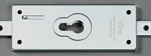 La serratura Viro 8270 può montare qualsiasi cilindro o mezzo cilindro a profilo europeo, anche di alta sicurezza.