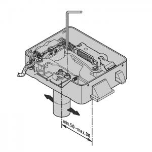 Nelle serrature elettriche Viro l'entrata si può regolare con una semplice operazione.