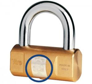 L'ologramma che permette di riconoscere il lucchetto cilindrico Viro originale.
