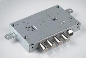 Le serrature a doppia mappa sono in genere costituite da un unico meccanismo.