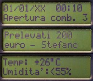 I display delle casseforti elettroniche Viro permettono l'utilizzo di funzioni avanzate.