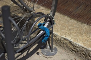 If only the wheel is locked up the rest of the bike can be stolen by unscrewing 2 screws.