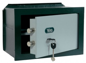 A wall safe, which can be recognised by the fins at the rear.
