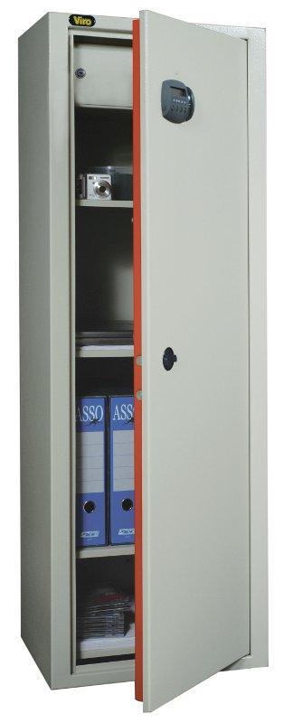 Un armadio di sicurezza con serratura biometrica Viro Ram Touch.