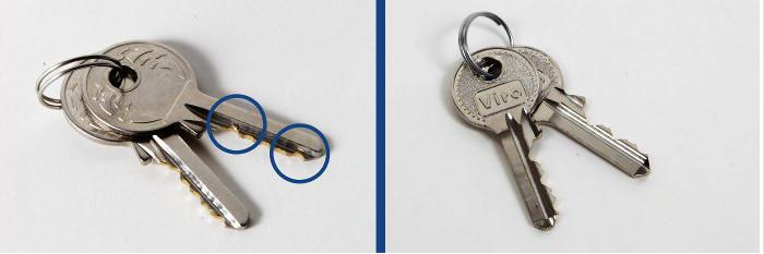blocca catena VS copia - chiavi