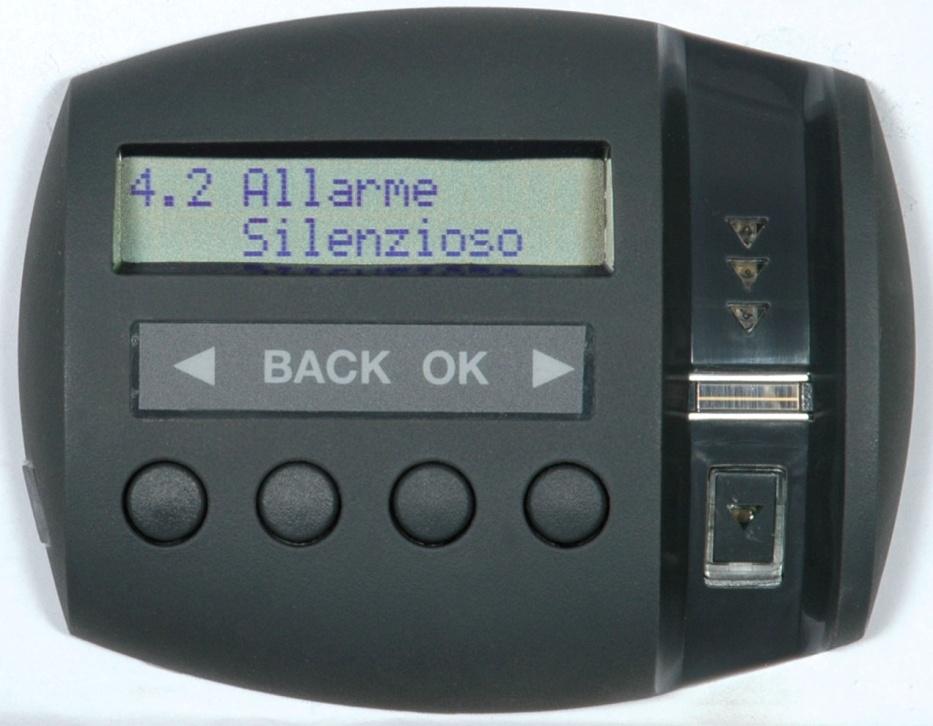 Il sistema Viro Ram-Touch permette di impostare un allarme silenzioso.