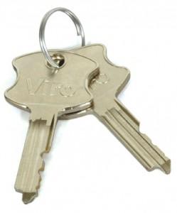 Le chiavi di emergenza con cui si può aprire la cassaforte anche se le batterie si dovessero esaurire.