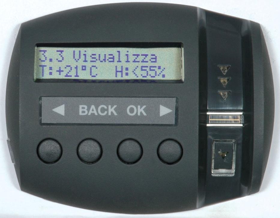 Il monitoraggio del clima interno è una delle funzioni avanzate di Viro Ram-Touch.