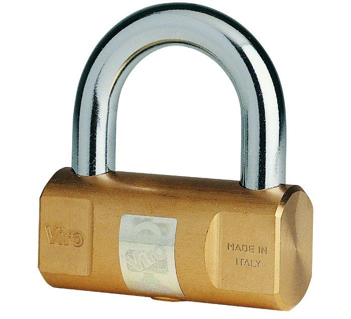 Come blocca corona si può utilizzare anche un comune lucchetto, purché di buona qualità come il Cilindrico Viro.