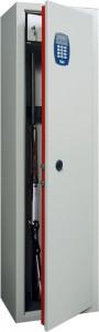 """L'armadio di sicurezza porta fucili a combinazione elettronica """"Diario di caccia"""" Viro."""