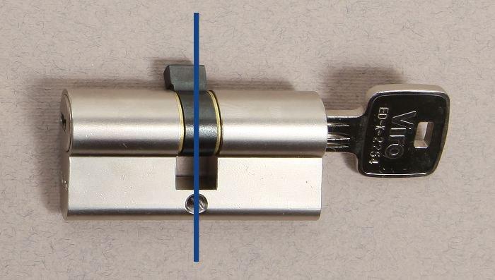 Un cilindro è idealmente composto da 2 parti. Le misure che contano ai fini di un corretto montaggio sono la lunghezza di questi 2 lati.