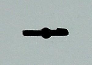 Esempio di fessura per l'inserimento delle chiavi a doppia mappa.