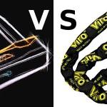 Proteggere la bicicletta: arco rigido o catena con lucchetto?