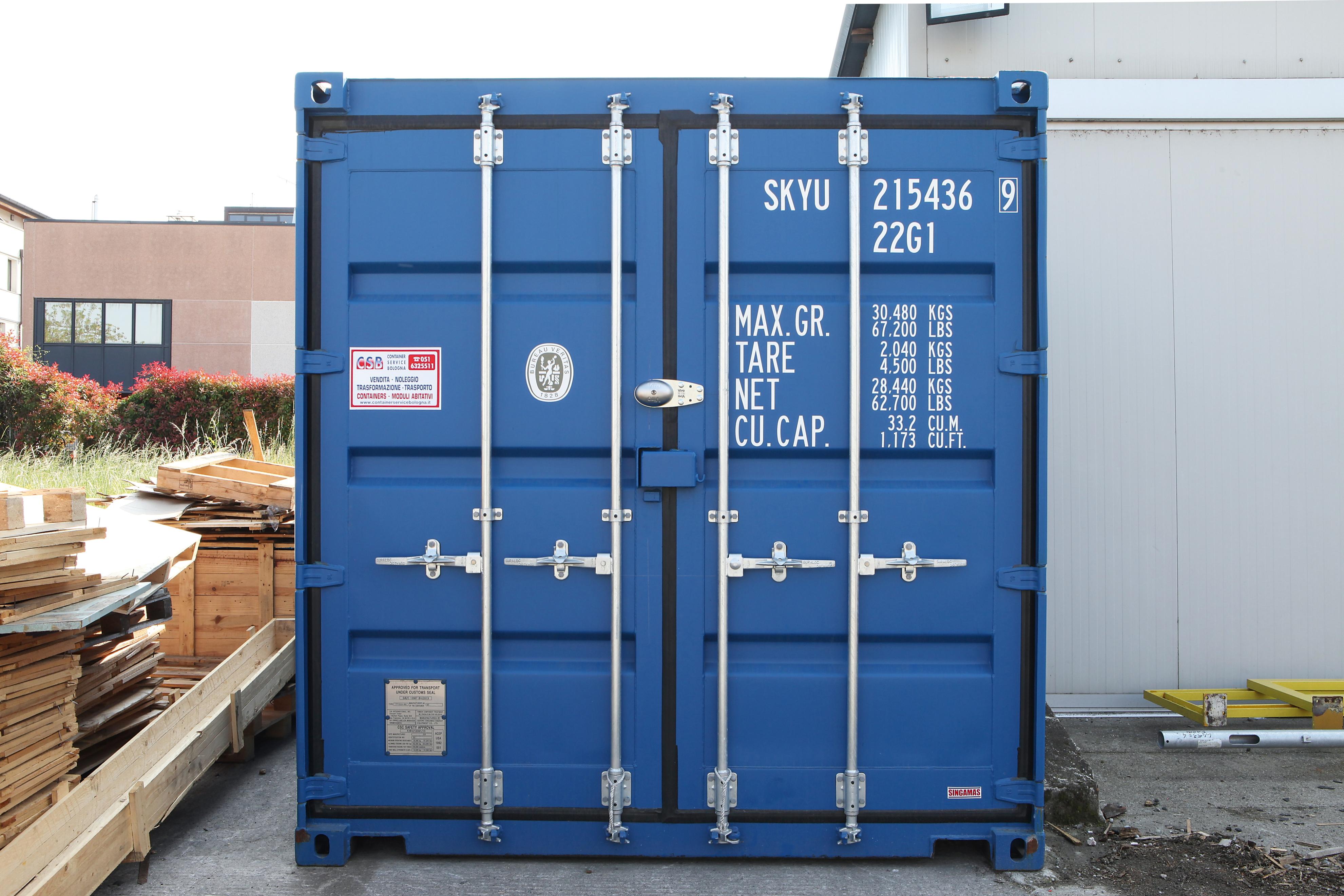 Le merci in un container sono al sicuro club viro for Un container
