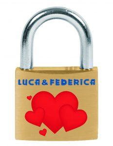 Lucchetto Viro dell'amore personalizzato