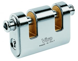 Panzer armoured padlock with 2 lock-bolts