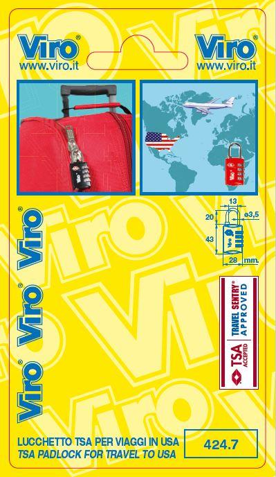 Confezione Lucchetto TSA VIRO