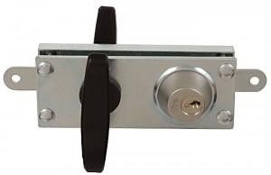 Cerradura blindada Viro 8217, con 2 placas de protección de acero zincado de 5 mm de espesor total.