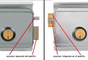 En las cerraduras Viro el expulsor separado del pestillo tolera una mayor desalineación.