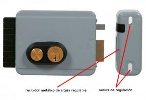 En las cerraduras Viro el recibidor metálico regulable permite contrarrestar una desalineación.