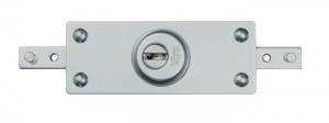 La nueva cerradura acorazada para cortinas metálicas enrollables Viro 8271, con medio cilindro intercambiable.