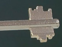El perfil de una llave de doble paleta es fácil de reproducir.