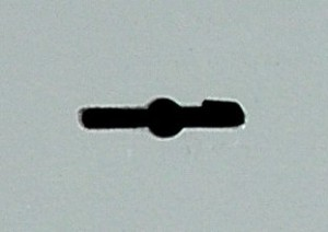La ranura para insertar una llave de doble paleta es muy amplia.