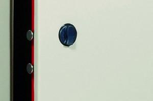 El pomo de un armario de seguridad Viro.