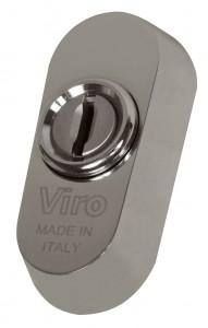 El escudo universal Viro puede montarse prácticamente en todas las cerraduras con cilindro europeo, incluso en las que no tienen orificios DIN.
