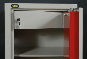 La caja para valores de un armario portadocumentos Viro