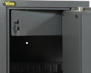 La caja para valores de un armario portafusiles Viro