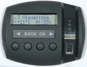 La monitorización del clima interior es una de las funciones avanzadas de Viro Ram-Touch.